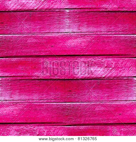 seamless texture of wood planks in pink paint background