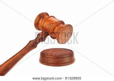 Judges Or Presiding Officer Or Auctioneers Hardwood Gavel