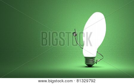?ellipsoidal Light Bulb Character In Aha Moment