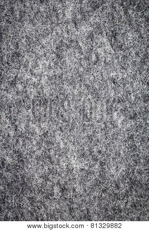 Grey Felt As Soft Fabric  Background Or Texture. Soft Wool Textile.