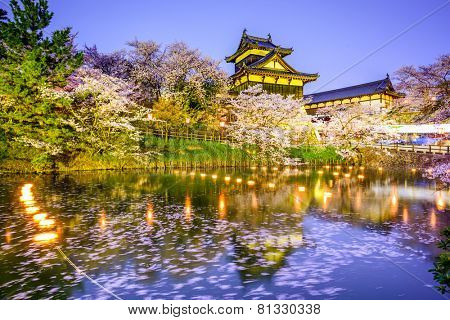 Nara, Japan at Koriyama Castle in the spring season.