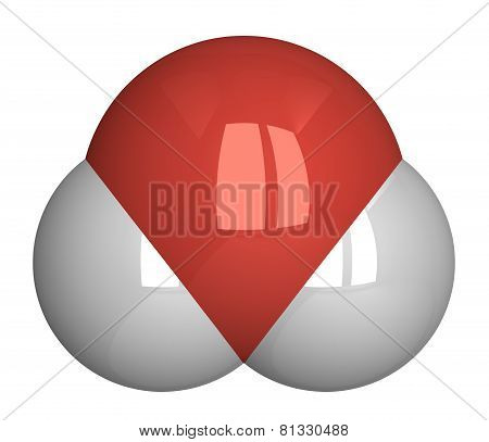 Water Molecule Isolated On White