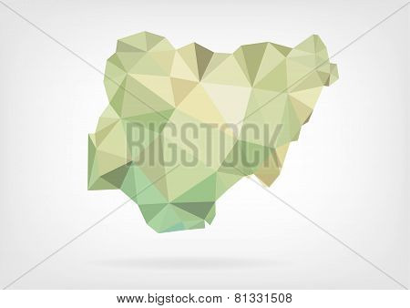 Low Poly map of Nigeria