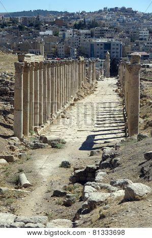 Roman Temple In The City Of Jerash