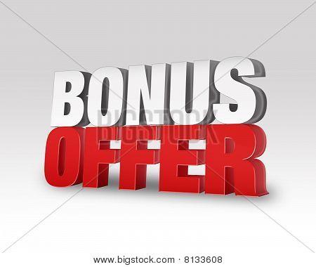 Bonus Offer