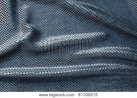 Texture Of Crumpled Blue Brilliant Fabric