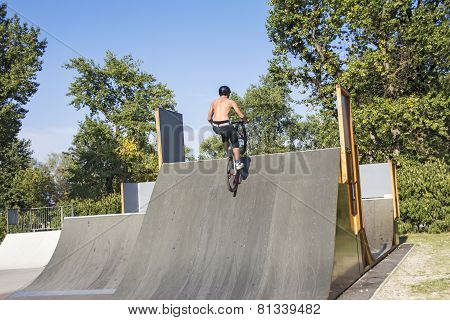 Biker On The Ramp