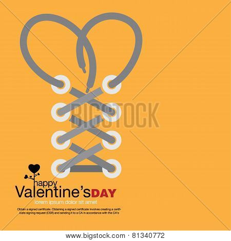 Vector Abstract Valentine's Love. - Stock Vector