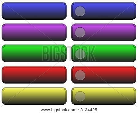 Jewel Tone Web Buttons