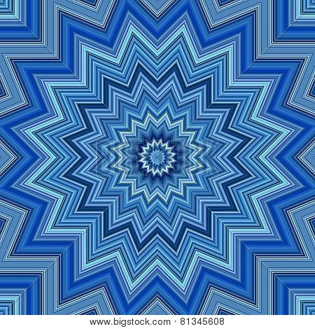 Blue colors kaleidoscope pattern illustration