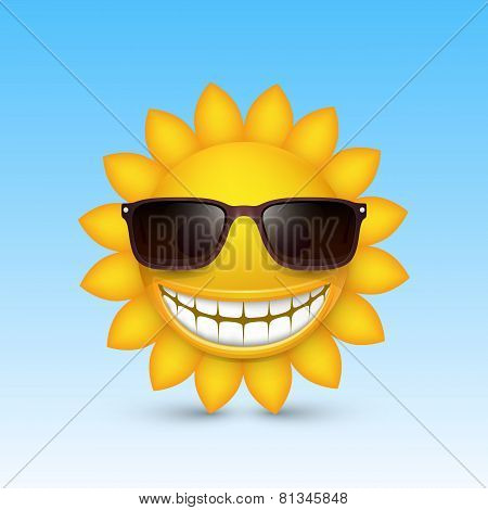 Smiley sun glasses. Vector
