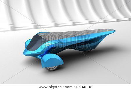 Future Solar Concept Car. 3D render. my own design, no trademarks.