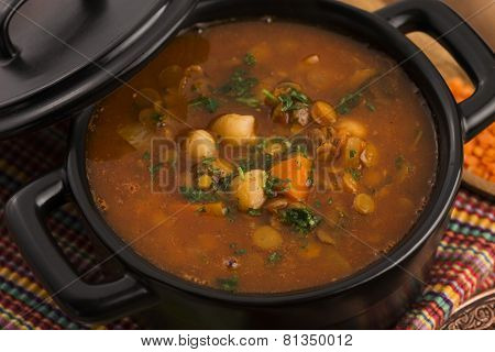 Moroccan Traditional Soup - Harira, The Traditional Berber Soup Of Morocco