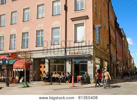 Stockholm. Sweden. Cafe in Gamla Stan
