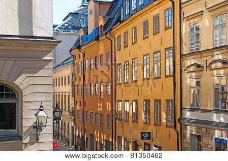 Stockholm. Sweden. Windows in Gamla Stan