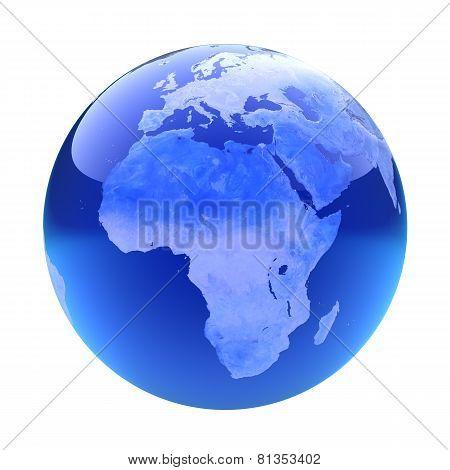 Glassy Globe. Africa