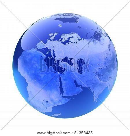 Glassy Globe.Europe