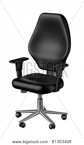 Black office chair isolated white background