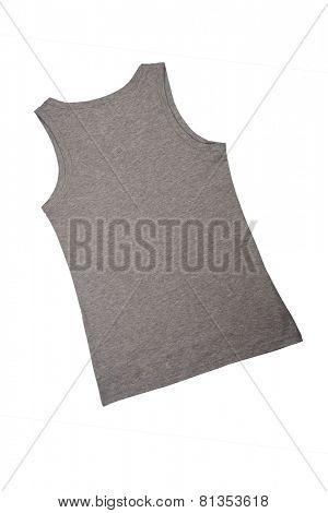 grey female shirt isolated on white