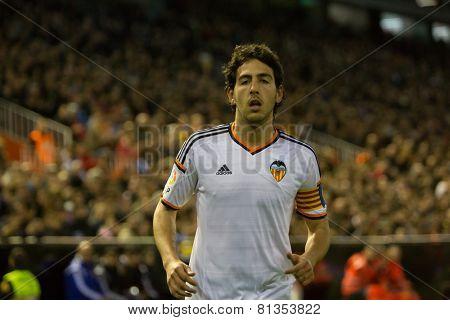 VALENCIA, SPAIN - JANUARY 25: Parejo during Spanish League match between Valencia CF and Sevilla FC at Mestalla Stadium on January 25, 2015 in Valencia, Spain