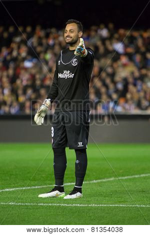 VALENCIA, SPAIN - JANUARY 25: Beto during Spanish League match between Valencia CF and Sevilla FC at Mestalla Stadium on January 25, 2015 in Valencia, Spain
