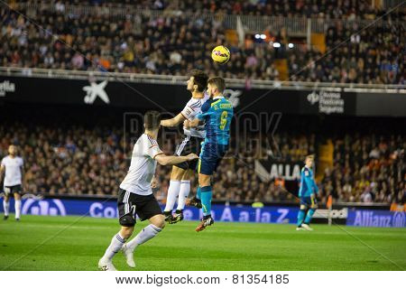 VALENCIA, SPAIN - JANUARY 25: Carrico 6 during Spanish League match between Valencia CF and Sevilla FC at Mestalla Stadium on January 25, 2015 in Valencia, Spain