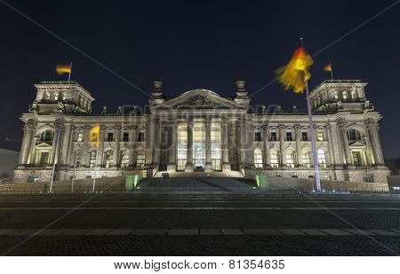 Reichstag Parliament Buildings In Berlin