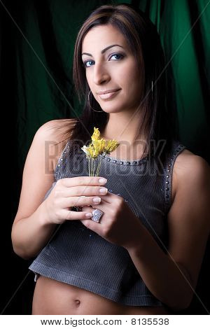 Fashion Model - Holding Flower