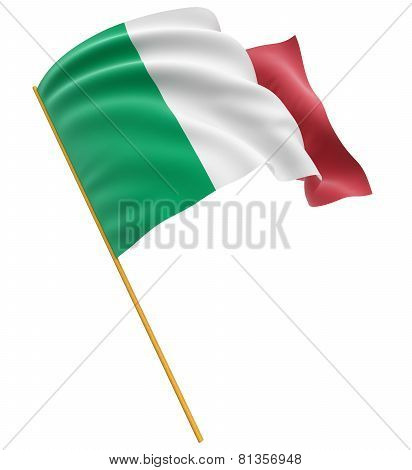 3D Italian flag (clipping path included)