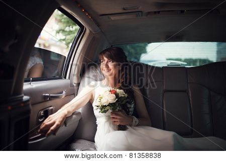 Bride Looking In The Window