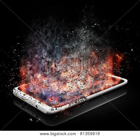 Tablet Pc With Shattered Screen