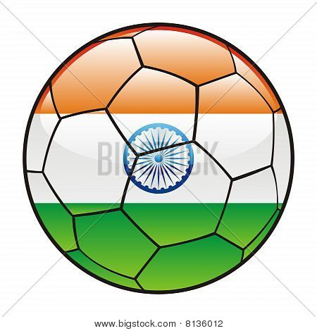 India flag on soccer ball