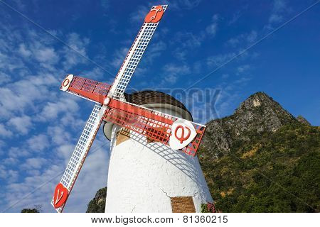 Windmill Of Swiss Sheep Farm#1