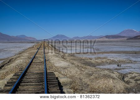 Rails in desert