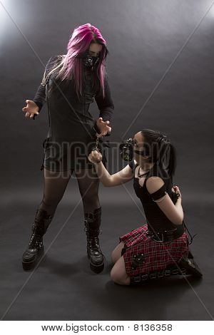 Handcuffed Mistress And Slave