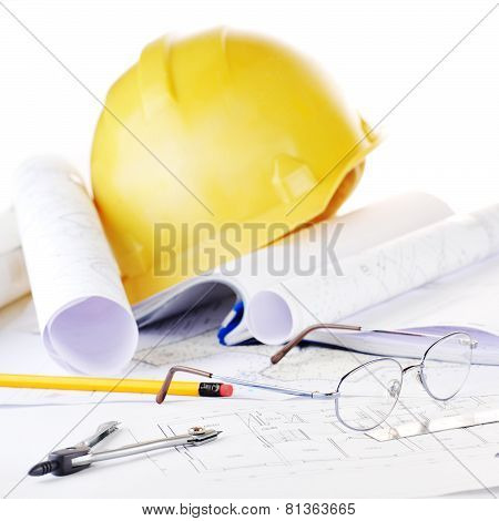 Yellow helmet and Drawings
