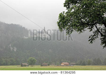 Fog over Neuschwanstein Castle