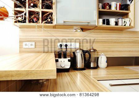 Detail Of Furnished Kitchen