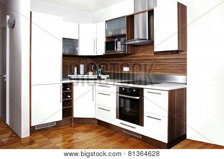 Whole Corner Of Modern Kitchen