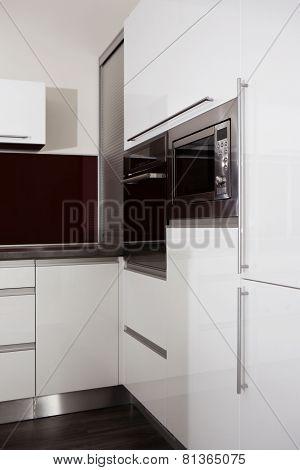 Corner Of Black And White Kitchen
