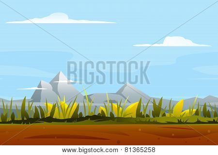 Nature Game Background Landscape