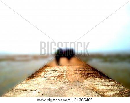 Blur sea bridge