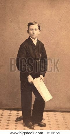 Vintage Boy  Photo from 1879