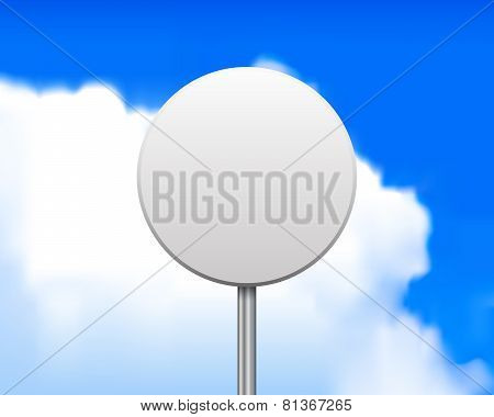 Blank round road sign