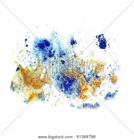 blots and stains blue texture