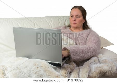 Woman studying from home