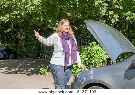 Women and the car breakdown