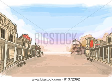 Old Wilde West Scenery