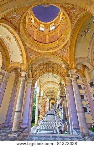 Arcades Of Mirogoj Cemetary In Zagreb