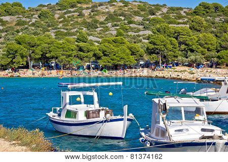 Idyllic Tourist Destination Beach In Croatia